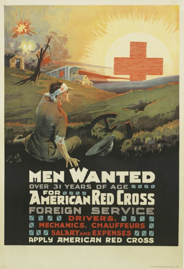 Artist Unknown Men Wanted for the American Red Cross 1918