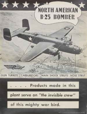 Artist Unknown North American B-25 Bomber