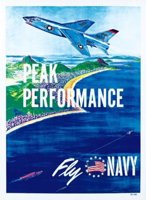 Artist Unknown Peak Performance Fly Navy
