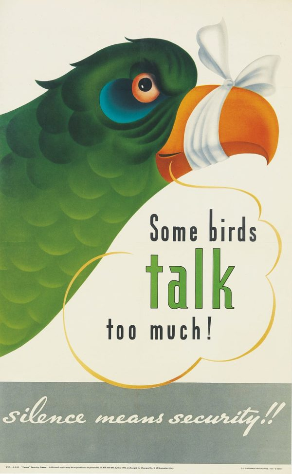Artist Unknown Some Birds Talk Too Much! 1944