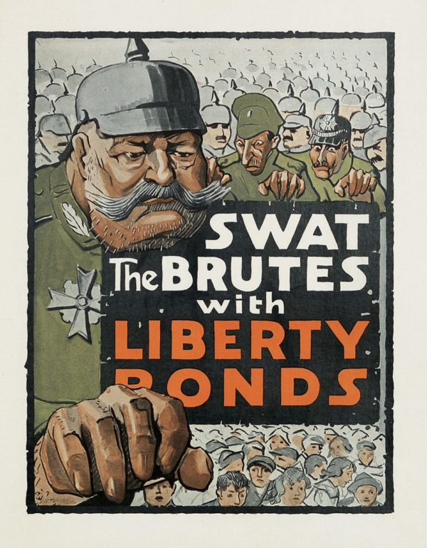 Artist Unknown Swat the Brutes with Liberty Bonds