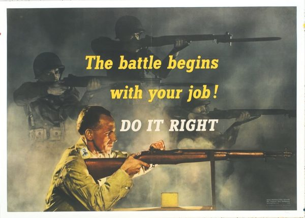 Artist Unknown The Battle Begins with Your Job! 1942