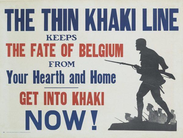 Artist Unknown The Thin Khahki Line
