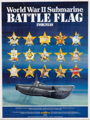 Artist Unknown World War II...Battle Flag Insignias c. 1980