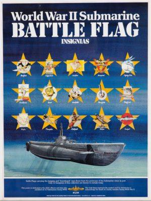 Artist Unknown World War II...Battle Flag Insignias c. 1980