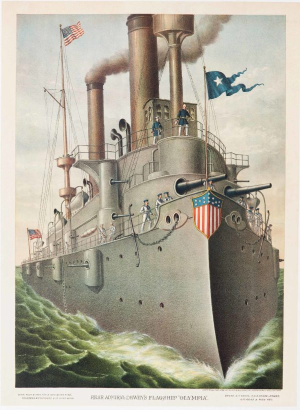 Artist Unkown Rear Admiral Dewey_s Flagship Olympia 1898