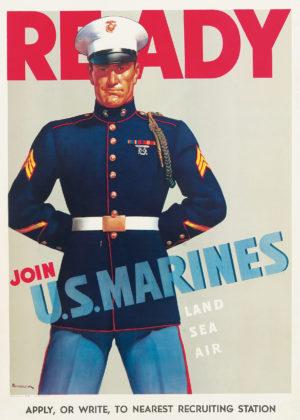 Sundblom, Haddon Ready- Join the U.S. Marines 1942
