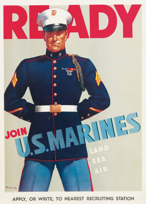 Sundblom, Haddon Ready- Join the U.S. Marines 1942
