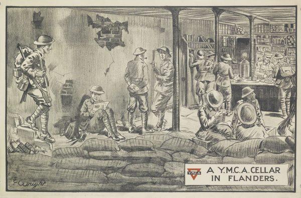 Wright, E. A YMCA Cellar in Flanders