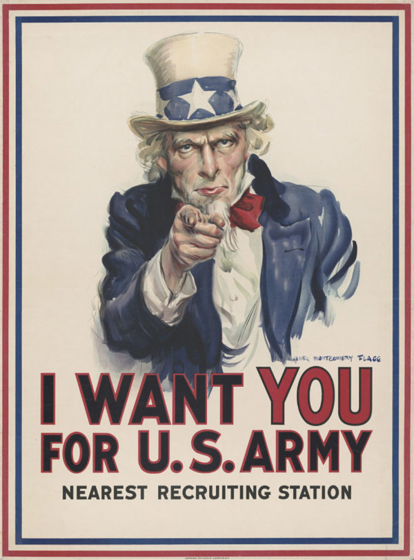 I Want You by James Montgomery Flagg, 1917
